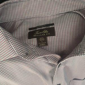 Men's dress shirt French cuff Macy's NWOT